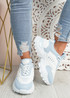 Revi Blue Chunky Trainers
