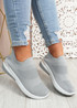 Vorre Grey Knit Trainers