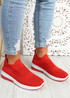 Vorre Red Knit Trainers