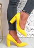 Genda Yellow Court Pumps