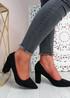 Essa Black Block Heel Pumps