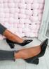 Yasmin Black Block Heel Pumps
