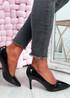 Isabella Black Stiletto Pumps
