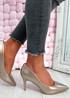 Isabella Champagne Stiletto Pumps