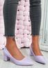 Lydia Purple Slip On Pumps