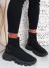 Polly Black Sock Sneakers
