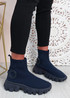 Polly Blue Sock Sneakers