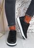 Saskia Black Sport Sneakers
