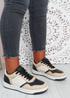 Saskia Black  Khaki Sport Sneakers