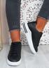 Mollie Black Glitter Sneakers