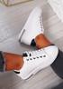 Mollie White Black Glitter Sneakers