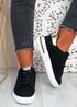 Melanie Black Gold Platform Sneakers