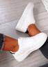 Roxanne White Black Platform Sneakers