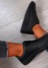 Roxanne Black Platform Sneakers