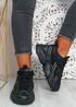 Ava Black Sport Chunky Sneakers