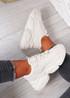 Ava Beige Sport Chunky Sneakers