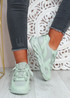Tia Green Chunky Sport Sneakers