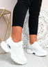 Elise White Chunky Trainers