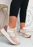 Daisy Pink Wedge Trainers