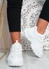 Salma White Chunky Sneakers