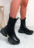 Roberta Black Chelsea Chunky Ankle Boots