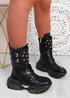 Mahi Black Chunky Platform Ankle Boots