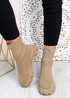Tiana Khaki Knit Sock Ankle Boots