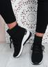 Shayna Black Wedge Sock Sneakers