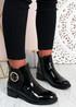 Talia Black Patent  Ankle Boots