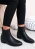 Juliette Black Pu Chelsea Ankle Boots