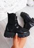 Savannah Black Chunky Boots