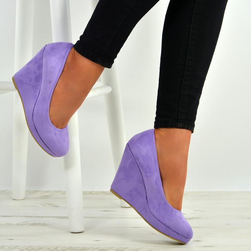 Elsa Purple Slip On Pumps