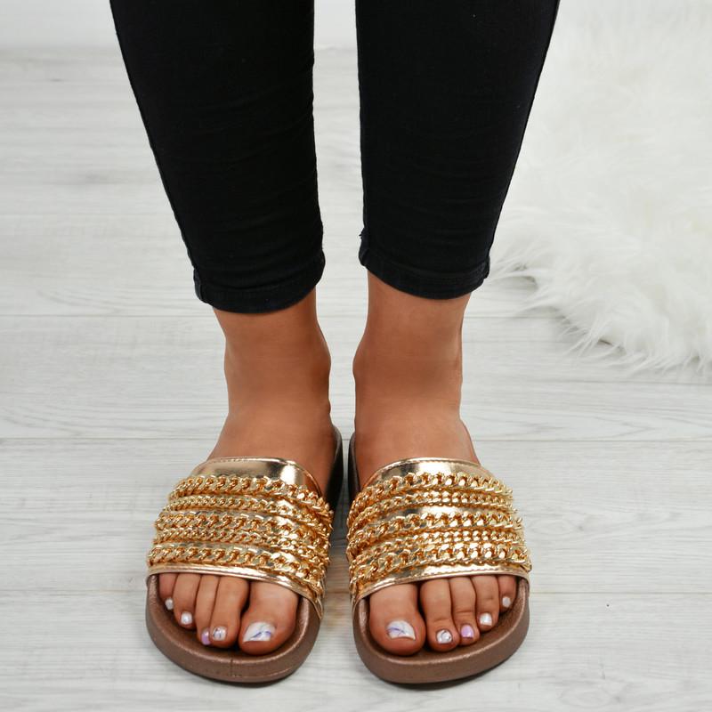 Camilla Rose Gold Chain Sliders