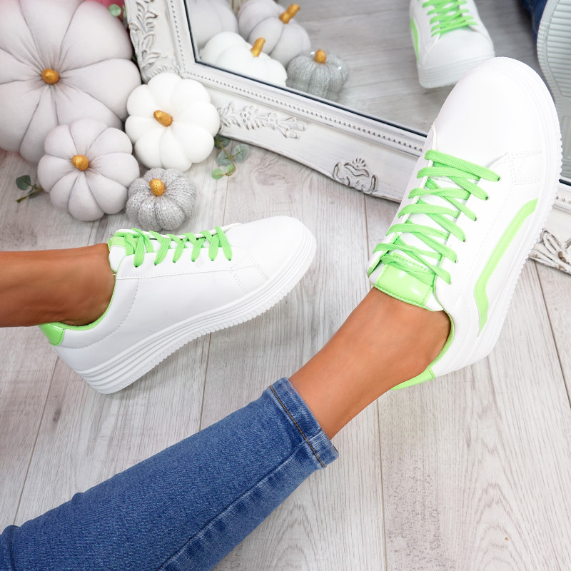 Herry Green Lace Up Trainers