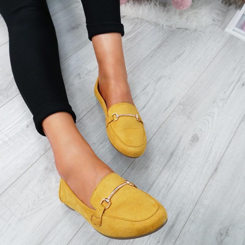 Amma Yellow Slip On Ballerinas