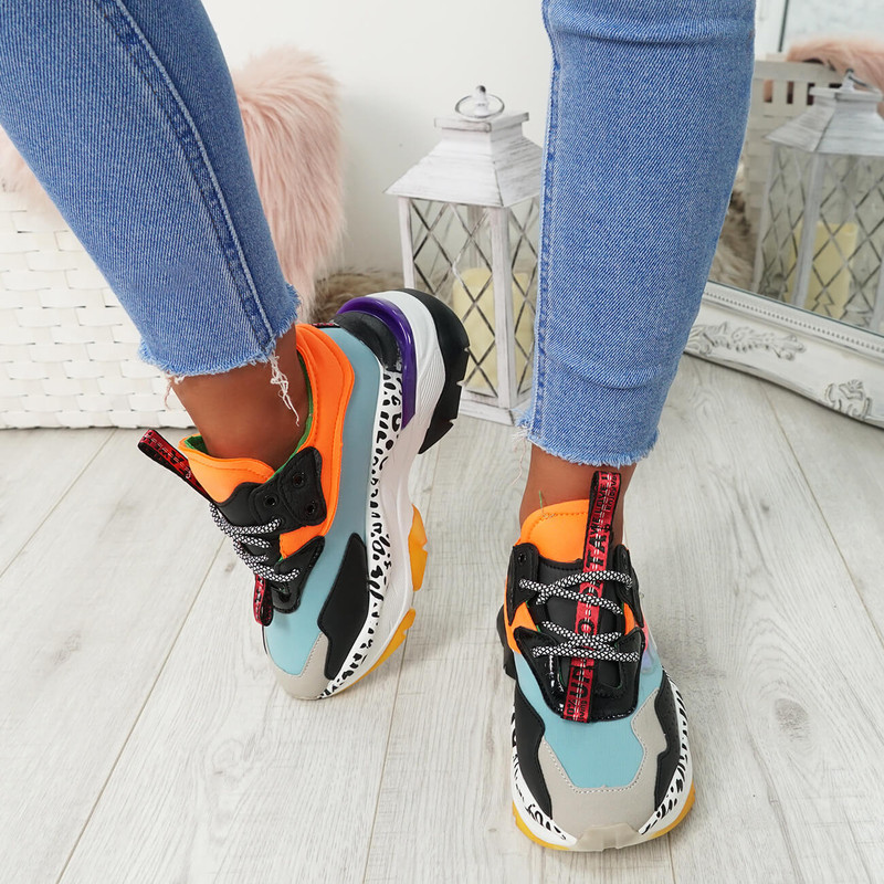 Sanso Blue Chunky Trainers