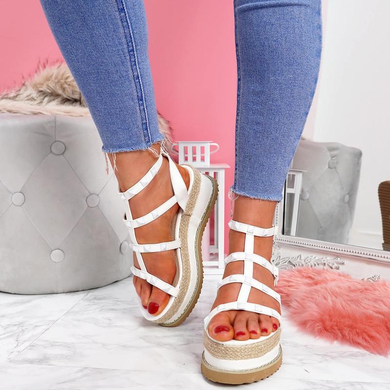 womens ladies girls platform t strap sandals peep toe wedge party women shoes size uk 3 4 5 6 7 8
