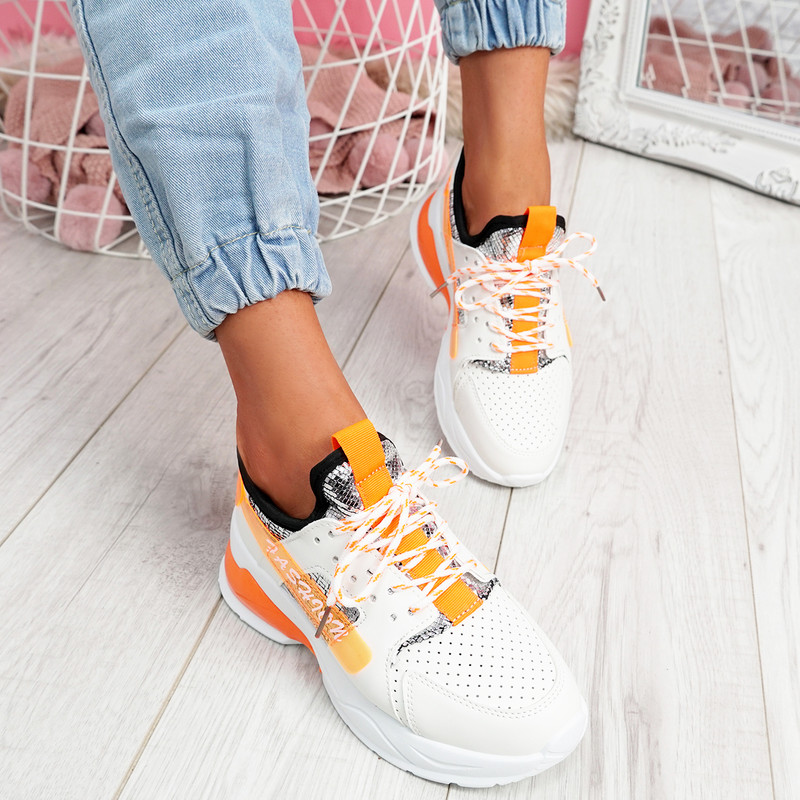 Jolle Orange Chunky Sneakers