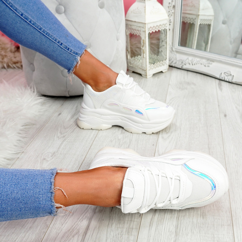 Kalle White Chunky Trainers