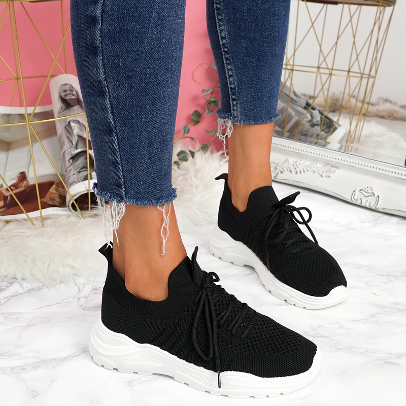 Leppe Black Running Sneakers