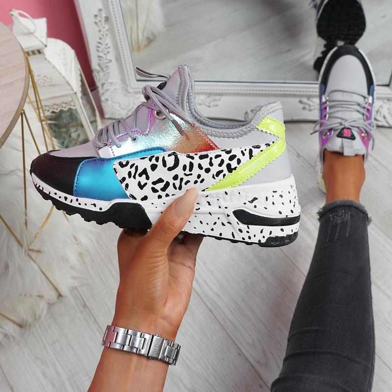 Obyo Grey Chunky Sneakers