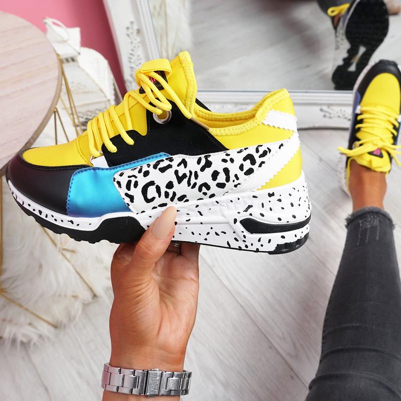 Obyo Yellow Chunky Sneakers