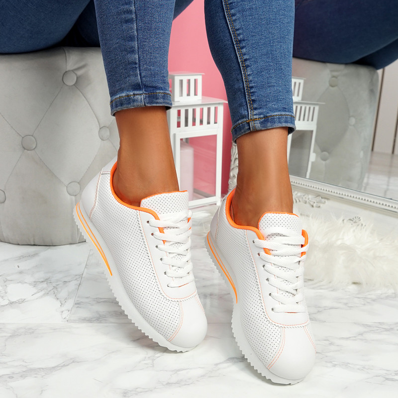 Nivy Orange Lace Up Trainers