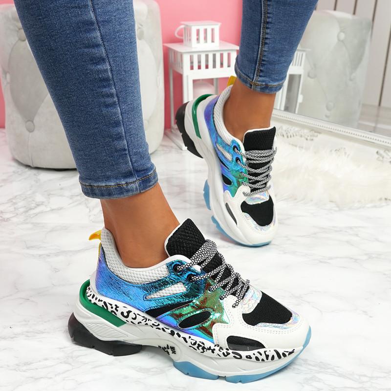 Reyna Black Chunky Sneakers
