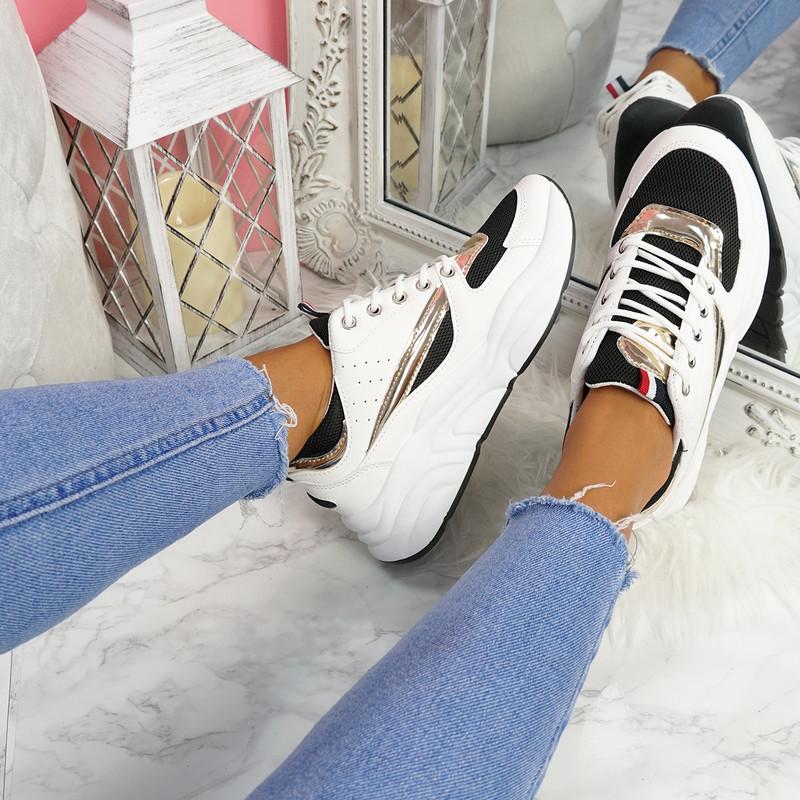 Kitta Black Chunky Sneakers