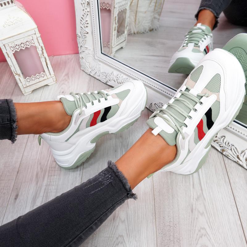 Loppa Green Chunky Sneakers