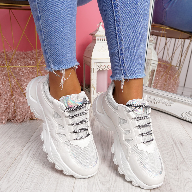 Vory White Chunky Sneakers