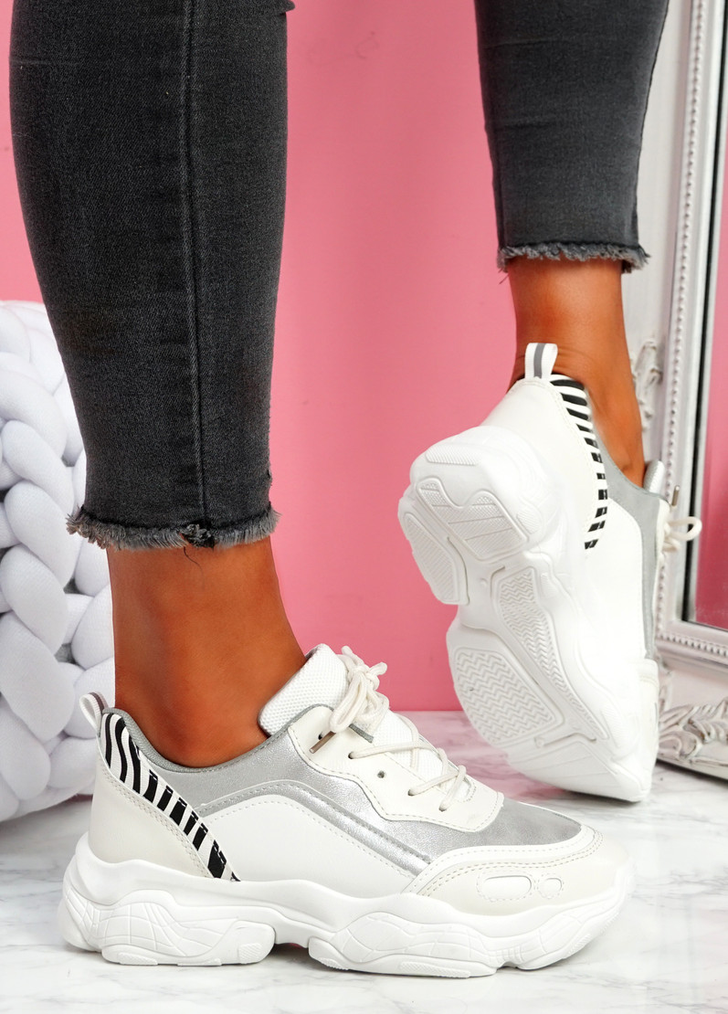 Unna Silver Chunky Trainers