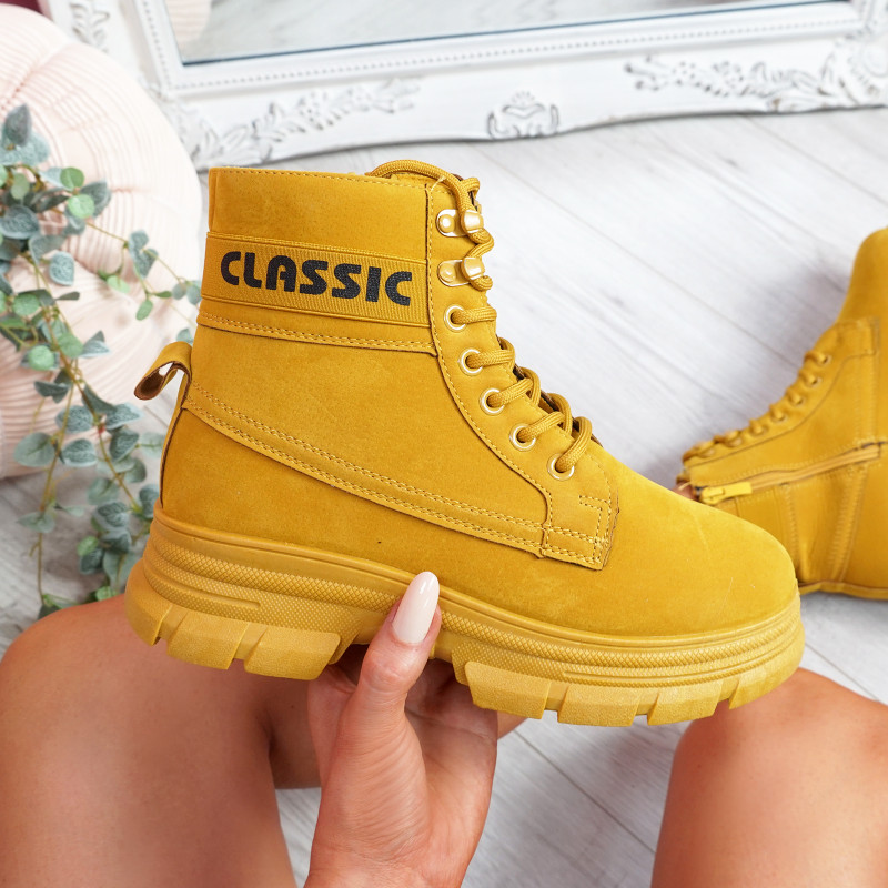 Adya Yellow Ankle Boots
