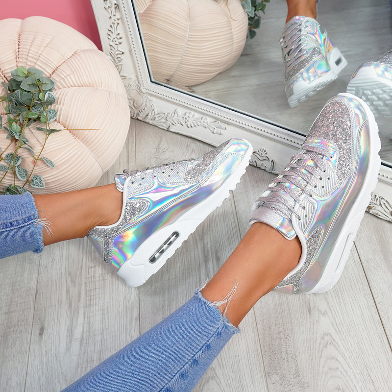 Monka Silver Trainers